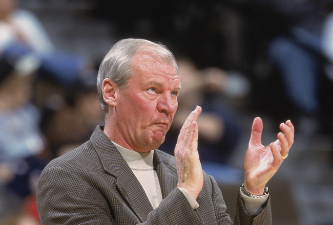 11 Nov 2001:  Head Coach Dan Issel of the Denver Nuggets reacts to the action during the game against the Toronto Raptors at the Pepsi Center in Denver, Colorado.  The Magic defeated the Nuggets 101-82.  NOTE TO USER: User expressly acknowledges and agree