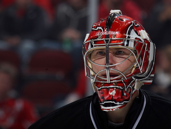 "After an early season hiccup, the ""Moose"" has played well when called upon, even outplaying Martin Brodeur at times."