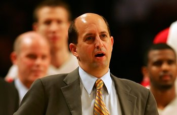 LOS ANGELES - DECEMBER 15:  Head coach Jeff Van Gundy of the Houston Rockets looks on during the game against the Los Angeles Lakers on December 15, 2006 at Staples Center in Los Angeles, California. The Lakers won 112-101. NOTE TO USER: User expressly ac