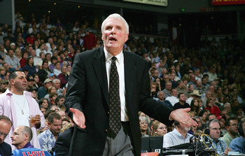 SACRAMENTO, CA - NOVEMBER 19:  Head coach Hubie Brown of the Memphis Gizzlies reacts during the game against the Sacramento Kings at Arco Arena on November 19, 2004 in Sacramento, California.  The Kings won 107-105.  NOTE TO USER: User expressly acknowled