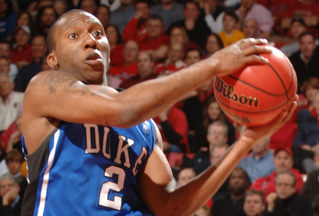 COLLEGE PARK, MD - FEBRUARY 2: Nolan Smith #2 of the Duke Blue Devils drives to the basket during a college basketball game against the Maryland Terrapins on February 2, 2011 at the Comcast Arena in College Park, Maryland. The Blue Devils won 80-62. (Phot