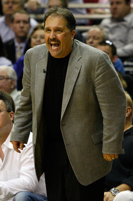 ORLANDO, FL - MAY 18:  Head coach Stan Van Gundy of the Orlando Magic reacts against the Boston Celtics in Game Two of the Eastern Conference Finals during the 2010 NBA Playoffs at Amway Arena on May 18, 2010 in Orlando, Florida.  NOTE TO USER: User expre