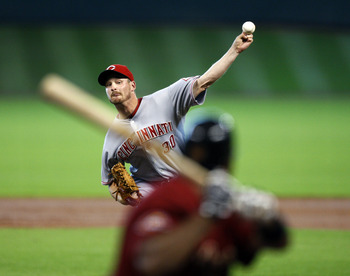 HOUSTON - SEPTEMBER 19:  Pitcher Travis Wood #30 of the Cincinnatti Reds throws against the Houston Astros at Minute Maid Park on September 19, 2010 in Houston, Texas.  (Photo by Bob Levey/Getty Images)