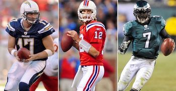 Philip Rivers, Tom Brady, and Michael Vick. The Triumvirate of NFL Offensive Leadership
