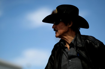 DAYTONA BEACH, FL - FEBRUARY 12:  Team owner Richard Petty looks on during practice for the NASCAR Sprint Cup Series Daytona 500 at Daytona International Speedway on February 12, 2011 in Daytona Beach, Florida.  (Photo by Nick Laham/Getty Images)