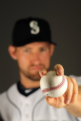 PEORIA, AZ - FEBRUARY 25:  Garrett Olson of the Seattle Mariners poses during photo media day at the Mariners spring training complex on February 25, 2010 in Peoria, Arizona.  (Photo by Ezra Shaw/Getty Images)