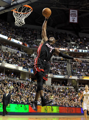 INDIANAPOLIS - FEBRUARY 15:  Dwyane Wade #3 of the Miami Heat shoots the ball during the NBA game against the Indiana Pacers at Conseco Fieldhouse on February 15, 2011 in Indianapolis, Indiana.   The Heat won 110-103.   NOTE TO USER: User expressly acknow