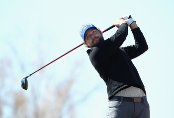 SCOTTSDALE, AZ - FEBRUARY 04:  Ryan Moore hits a tee shot on the 15th hole during the first round of the Waste Management Phoenix Open at TPC Scottsdale on February 4, 2011 in Scottsdale, Arizona.  (Photo by Christian Petersen/Getty Images)