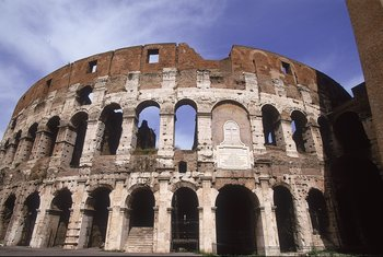 14 May 1996:  General view of the Colosseum in Rome during the Italian Open in Italy. \ Mandatory Credit: Clive Brunskill /Allsport