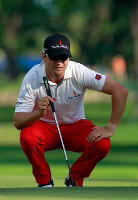 HONOLULU, HI - JANUARY 14:  Zach Johnson plays a shot during the first round of the Sony Open at Waialae Country Club on January 14, 2011 in Honolulu, Hawaii.  (Photo by Sam Greenwood/Getty Images)
