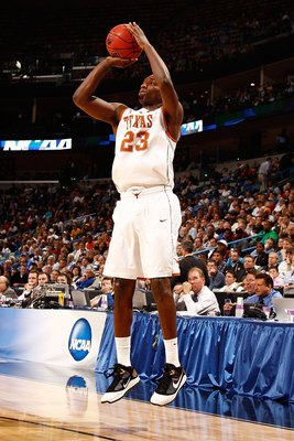 NEW ORLEANS - MARCH 18:  Jordan Hamilton #23 of the Texas Longhorns shoots the ball against the Wake Forest Demon Deacons during the first round of the 2010 NCAA men�s basketball tournament at the New Orleans Arena on March 18, 2010 in New Orleans, Louisi