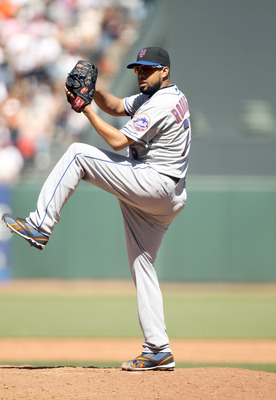 SAN FRANCISCO - JULY 18:  Francisco Rodriguez #75 of the New York Mets pitches against the San Francisco Giants at AT&T Park on July 18, 2010 in San Francisco, California.  (Photo by Ezra Shaw/Getty Images)