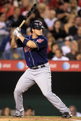 ANAHEIM, CA - SEPTEMBER 07:  Matt LaPorta #7 of the Cleveland Indians at bat against the Los Angeles Angels of Anaheim in the game at Angel Stadium on September 7, 2010 in Anaheim, California.  (Photo by Jeff Gross/Getty Images)