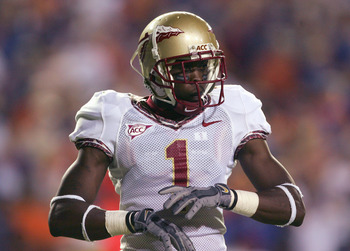 GAINESVILLE, FL - NOVEMBER 26:  Fred Rouse #1 of the Florida State Seminoles looks on during the game against the Florida Gators on November 26, 2005 at Ben Hill Griffin Stadium in Gainesville, Florida. The Florida Gators won 34-7. (Photo By Streeter Leck