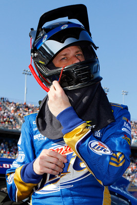 DAYTONA BEACH, FL - FEBRUARY 17:  Brad Keselowski, driver of the #2 Miller Lite Dodge, stands on the grid prior to the second race of the NASCAR Sprint Cup Series Gatorade Duel at Daytona International Speedway on February 17, 2011 in Daytona Beach, Flori