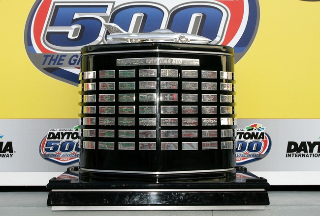 DAYTONA, FL - FEBRUARY 18:  A view of the winners trophy in victory lane during the NASCAR Nextel Cup Series Daytona 500 at Daytona International Speedway on February 18, 2007 in Daytona, Florida.  (Photo by John Harrelson/Getty Images for NASCAR)