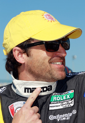 DAYTONA BEACH, FL - JANUARY 29:  Patrick Dempsey, driver of the #40 Mazda/Visit Florida Mazda RX-8, smiles prior to the start of the Rolex 24 at Daytona International Speedway on January 29, 2011 in Daytona Beach, Florida.  (Photo by Sam Greenwood/Getty I