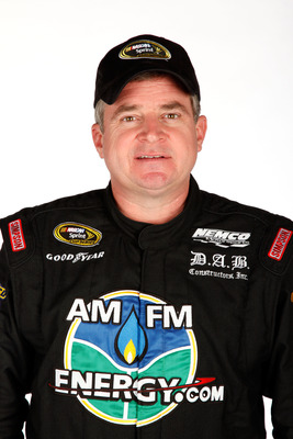 DAYTONA BEACH, FL - FEBRUARY 10:  Joe Nemechek, driver of the #87 AMFMEnergy.com Toyota, poses during the 2011 NASCAR Sprint Cup Series Media Day at Daytona International Speedway on February 10, 2011 in Daytona Beach, Florida.  (Photo by Chris Graythen/G