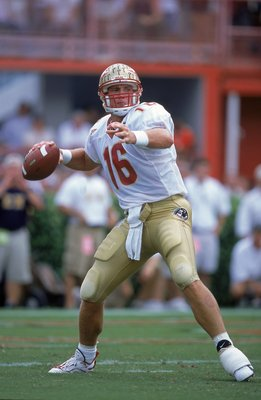 8 Oct 2000:  Chris Weinke #16 of the Florida State Seminoles passes the ball during the game against the Miami Hurricanes at the Orange Bowl in Miami, Florida.  The Hurricanes defeated the Seminoles 27-24.Mandatory Credit: Andy Lyons  /Allsport