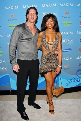 MIAMI BEACH, FL - FEBRUARY 02:  John Rocker and guest arrive to Maxim's Pre-Super Bowl XLI Party at the Sagamore Hotel  on February 2, 2007 in Miami Beach, Florida.  (Photo by Evan Agostini/Getty Images)