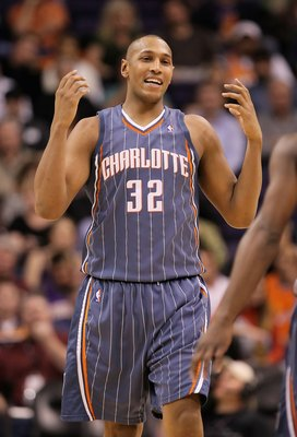PHOENIX - JANUARY 26:  Boris Diaw #32 of the Charlotte Bobcats during the NBA game against the Phoenix Suns at US Airways Center on January 26, 2010 in Phoenix, Arizona. The Bobcats defeated the Suns in overtime.  114-109.  NOTE TO USER: User expressly ac