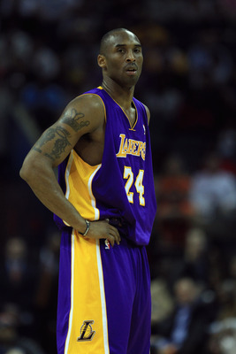 CHARLOTTE, NC - FEBRUARY 14:  Kobe Bryant #24 of the Los Angeles Lakers against the Charlotte Bobcats during their game at Time Warner Cable Arena on February 14, 2011 in Charlotte, North Carolina. NOTE TO USER: User expressly acknowledges and agrees that