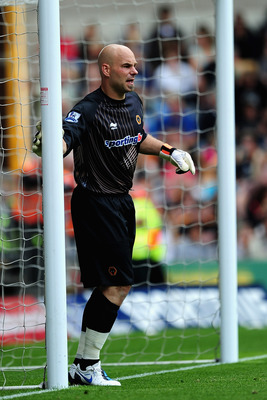 WOLVERHAMPTON, ENGLAND - AUGUST 07:  Marcus Hahnemann of Wolverhampton Wanderers in action  during the Pre Season Friendly match between Wolverhampton Wanderers and Atletico Blbao at Molineux on August 7, 2010 in Wolverhampton, England.  (Photo by Laurenc