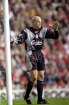 16 Oct 1999:  Brad Friedel of Liverpool during the FA Carling Premiership match against Chelsea at Anfield in Liverpool. Liverpool won 1-0. \ Mandatory Credit: Shaun Botterill /Allsport