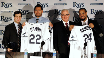 Johnny Damon and Manny Ramirez