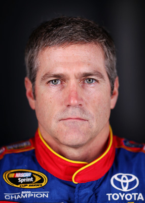 DAYTONA BEACH, FL - FEBRUARY 10:  Bobby Labonte, driver of the #47 Toyota, poses during the 2011 NASCAR Sprint Cup Series Media Day at Daytona International Speedway on February 10, 2011 in Daytona Beach, Florida.  (Photo by Nick Laham/Getty Images for NA