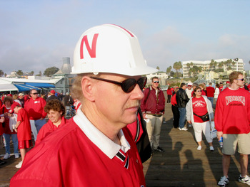 1 Jan 2002:   University of Nebraska fans attend a Cornhusker rally and concert at the Santa Monica Pier in Santa Monica, California. The fans are in town to attend the Rose Bowl National Championship Game versus Miami on January 3. DIGITAL IMAGE Mandator