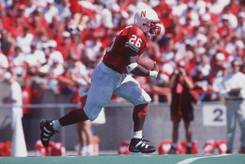 16 Sep 1995:  Clinton Childs of the University of Nebraska carries the football during the Cornhuskers 77-28 win over Arizona State at the Memorial Stadium in Omaha, Nebraska. Mandatory Credit: Stephen Dunn/ALLSPORT