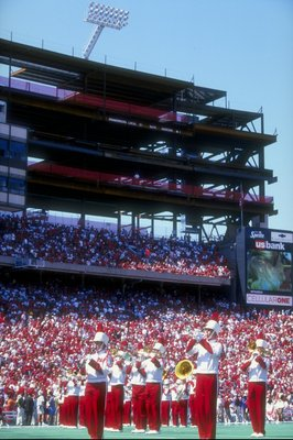 29 Aug 1998:  General view of the Eddie Robinson Classic game between the Nebraska Cornhuskers and the Louisiana Tech Bulldogs at Tom Osborne Field in Lincoln, Nebraska. The Cornhuskers defeated the Bulldogs 56-27.