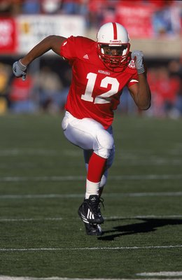 24 Nov 2000:  Bobby Newcombe #12 of the Colorado Buffalos moves on the field during the game against the Nebraska Cornhuskers at Memorial Stadium in Lincoln, Nebraska. The Cornhuskers defeated the Buffalos 34-32.Mandatory Credit: Tom Hauck  /Allsport