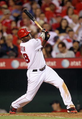 ANAHEIM, CA - JULY 01:  Torii Hunter #48 of the Los Angeles Angels of Anaheim plays against the Tampa Bay Rays in the game at Angel Stadium on July 1, 2010 in Anaheim, California.  (Photo by Jeff Gross/Getty Images)