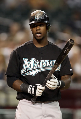 PHOENIX - JULY 08:  Hanley Ramirez #2 of the Florida Marlins at bat during the Major League Baseball game against the Arizona Diamondbacks at Chase Field on July 8, 2010 in Phoenix, Arizona. The Diamondbacks defeated the Marlins 10-4.  (Photo by Christian