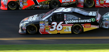 DAYTONA BEACH, FL - FEBRUARY 20:  Jamie McMurray, driver of the #1 Bass Pro Shops Chevrolet, Juan Pablo Montoya, driver of the #42 Target Chevrolet, Dave Blaney, driver of the #36 Tommy Baldwin Racing Chevrolet,  and Dale Earnhardt Jr., driver of the #88