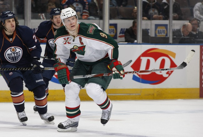 EDMONTON, CANADA - JANUARY 18: Mikko Koivu #9 of the Minnesota Wild skates against the Edmonton Oilers on January 18, 2011 at Rexall Place in Edmonton, Alberta, Canada. (Photo by Dale MacMillan/Getty Images)