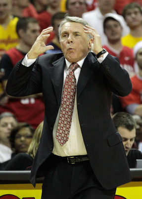 COLLEGE PARK, MD - FEBRUARY 20:  Maryland Terrapians head coach Gary Williams reacts to a call against the NC State Wolfpack at the Comcast Center on February 20, 2011 in College Park, Maryland.  (Photo by Rob Carr/Getty Images)