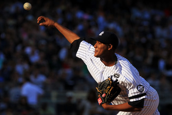 NEW YORK - SEPTEMBER 25:  Ivan Nova #47 of the New York Yankees pitches against the Boston Red Sox during their game on September 25, 2010 at Yankee Stadium in the Bronx borough of New York City.  (Photo by Chris McGrath/Getty Images)