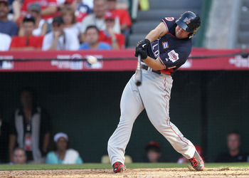 ANAHEIM, CA - JULY 11:  World Futures All-Star Yonder Alonso #20 of the Cincinnati Reds at bat during the 2010 XM All-Star Futures Game at Angel Stadium of Anaheim on July 11, 2010 in Anaheim, California.  (Photo by Stephen Dunn/Getty Images)