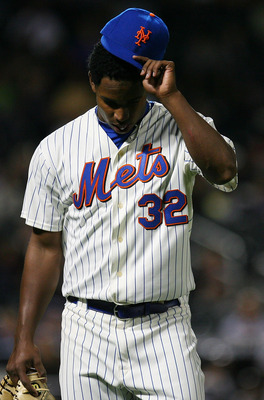 NEW YORK - SEPTEMBER 15:  Jenrry Mejia #32 of the New York Mets comes off the field in the third inning against the Pittsburgh Pirates on September 15, 2010 at Citi Field in the Flushing neighborhood of the Queens borough of New York City.  (Photo by Andr