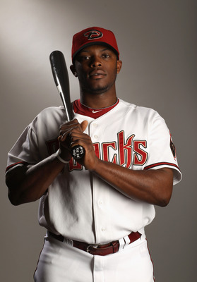 SCOTTSDALE, AZ - FEBRUARY 21:  Justin Upton #10 of the Arizona Diamondbacks poses for a portrait at Salt River Fields at Talking Stick on February 21, 2011 in Scottsdale, Arizona.  (Photo by Ezra Shaw/Getty Images)