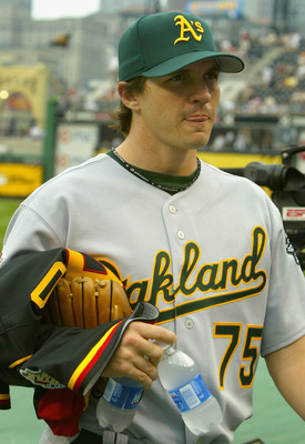 PITTSBURGH - JULY 11:  American League All-Star  Barry Zito of the Oakland A's walks on the field before the start of the 77th MLB All-Star Game at PNC Park on July 11, 2006 in Pittsburgh, Pennsylvania.  (Photo by Christian Petersen/Getty Images)