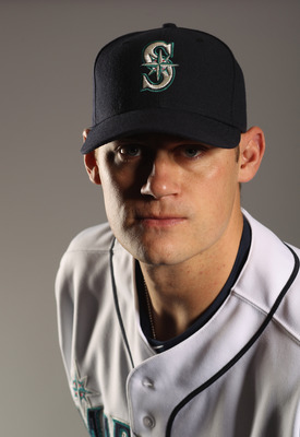 PEORIA, AZ - FEBRUARY 20:  Jamey Wright #50 of the Seattle Mariners poses for a portrait at the Peoria Sports Complex on February 20, 2011 in Peoria, Arizona.  (Photo by Ezra Shaw/Getty Images)