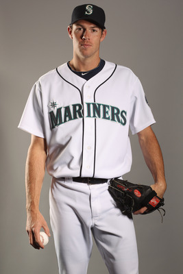 PEORIA, AZ - FEBRUARY 20:  Doug Fister #58 of the Seattle Mariners poses for a portrait at the Peoria Sports Complex on February 20, 2011 in Peoria, Arizona.  (Photo by Ezra Shaw/Getty Images)
