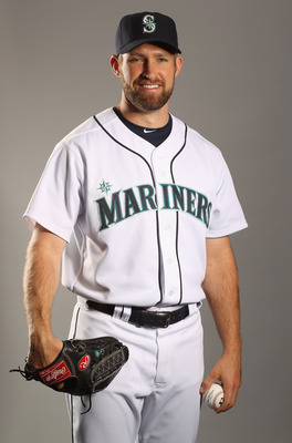 PEORIA, AZ - FEBRUARY 20:  Garrett Olson #49 of the Seattle Mariners poses for a portrait at the Peoria Sports Complex on February 20, 2011 in Peoria, Arizona.  (Photo by Ezra Shaw/Getty Images)