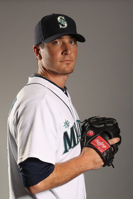 PEORIA, AZ - FEBRUARY 20:  Luke French #25 of the Seattle Mariners poses for a portrait at the Peoria Sports Complex on February 20, 2011 in Peoria, Arizona.  (Photo by Ezra Shaw/Getty Images)