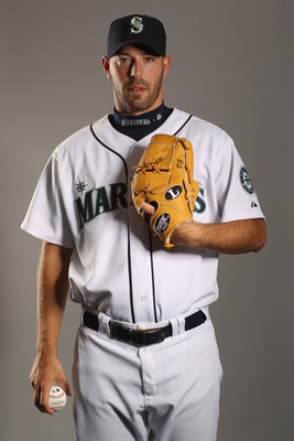PEORIA, AZ - FEBRUARY 20:  David Aardsma #53 of the Seattle Mariners poses for a portrait at the Peoria Sports Complex on February 20, 2011 in Peoria, Arizona.  (Photo by Ezra Shaw/Getty Images)