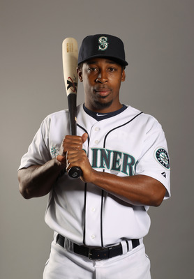 PEORIA, AZ - FEBRUARY 20:  Chone Figgins #9 of the Seattle Mariners poses for a portrait at the Peoria Sports Complex on February 20, 2011 in Peoria, Arizona.  (Photo by Ezra Shaw/Getty Images)